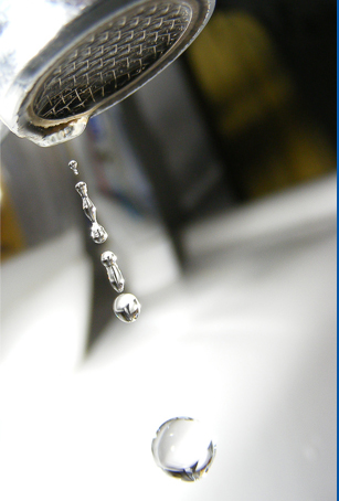 Home page Main image, dripping tap